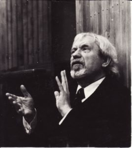 Juozas Miltinis repeticijoje. Apie 1975–1980 m. PAVB FJM-1015/58
