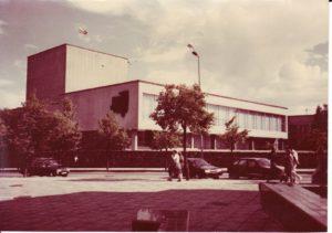 Panevėžio dramos teatras 1989 m. Fotogr. Kazimiero Vitkaus. PAVB FKV-349/2