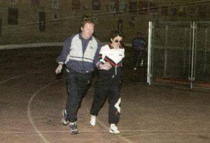 Sigita Markevičienė su treneriu Sergejumi Sokolovu