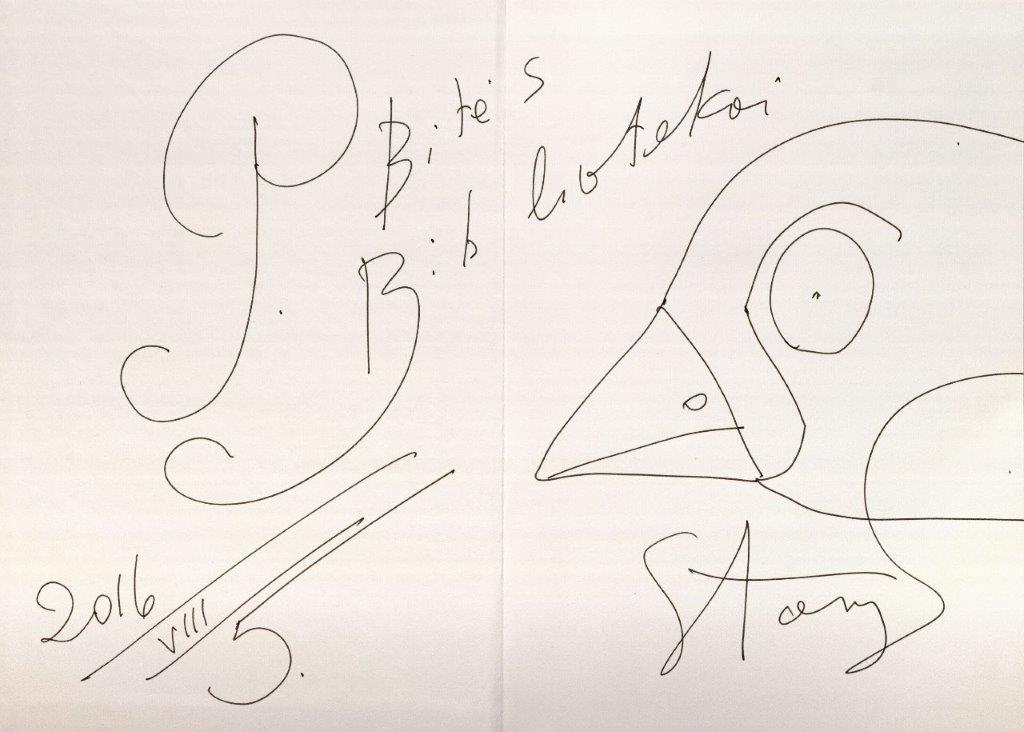 S. Eidrigeviciaus autografas