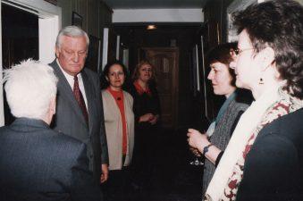 1999 m. kovą Miltinio centre lankėsi Lietuvos prezidentas Algirdas Brazauskas
