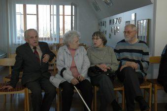 Aktoriai Juozas Jučas, Julija Blėdytė-Stepankienė, Regina Zdanavičiūtė, Stasys Petronaitis