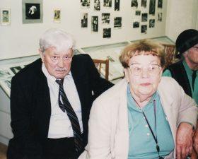 Aktoriai Donatas Banionis ir Ona Banionienė. 2004 m.