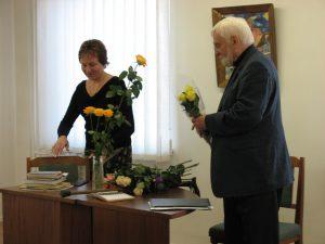 Susitikimas su aktoriumi Algimantu Masiuliu, 2006 m. rugsėjis