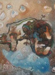 """Algirdas Grinius. """"Žvejys"""". Aliejus, drobė, 50x60, 1993"""