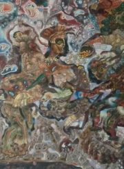 """Algirdas Grinius. """"Mažas sandėris"""". Aliejus, drobė, 134x103, 1995"""