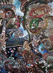 """Algirdas Grinius. """"Didžioji meilė"""". Aliejus, drobė, 100x116, 1996"""