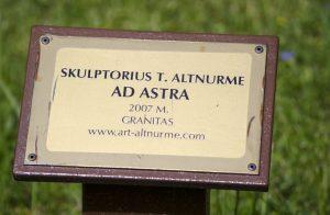 """Skulptūra """"Ad Astra"""". Astos Rimkūnienės nuotrauka"""