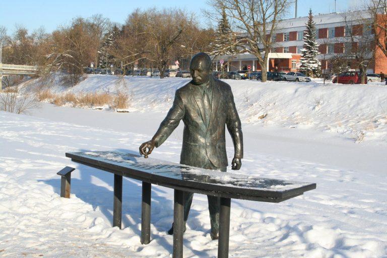 """Skulptūra """"Šachmatininkas"""". Aivaro Neimonto nuotrauka"""
