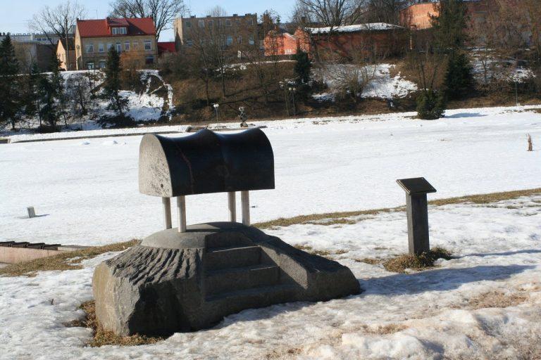 """Skulptūra """"Balnas dviems"""". Aivaro Neimonto nuotrauka"""