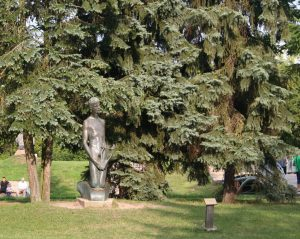"""Skulptūra """"Dainius"""". Aivaro Neimonto nuotrauka"""