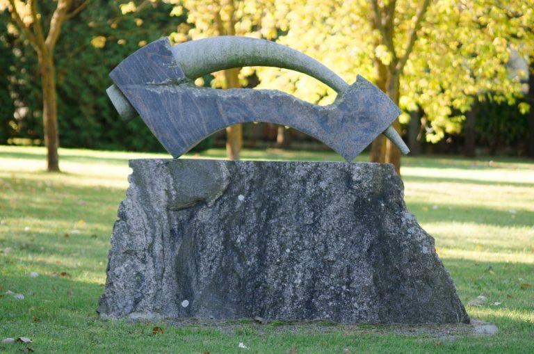 """Skulptūra """"Energinga forma"""". Astos Rimkūnienės nuotrauka"""