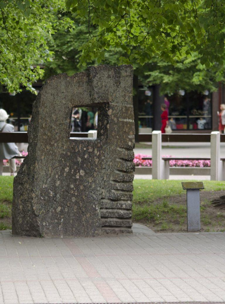 """Skulptūra """"Langas"""". Astos Rimkūnienės nuotrauka"""