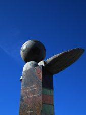 """Skulptūra """"Panevėžio futbolininkams"""". Meganos Pesse nuotrauka"""