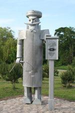 """Skulptūra """"Panevėžio vėžys"""". Aivaro Neimonto nuotrauka"""