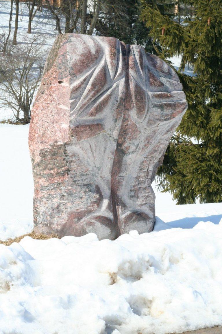 """Skulptūra """"Prisitaikymas"""". Aivaro Neimonto nuotrauka"""