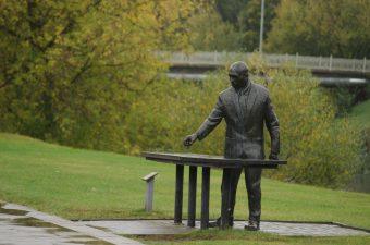 """Skulptūra """"Šachmatininkas"""". Astos Rimkūnienės nuotrauka"""