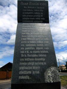 Paminklas, skirtas Panevėžio įkūrimo 500 metų sukakčiai. Astos Rimkūnienės nuotrauka