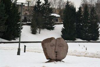 """Skulptūra """"Prologas"""". Aivaro Neimonto nuotrauka"""