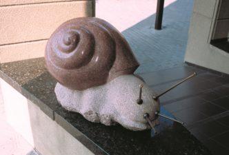 """Skulptūra """"Sraigė"""". Sauliaus Saladūno nuotrauka"""