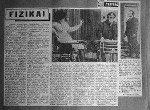 """Laikraščio """"Panevėžio tiesa"""" iškarpos iš K. Vitkaus fonde saugomo iškarpų apie Panevėžio dramos teatrą albumo"""
