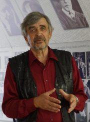 Aktorius Rudolfas Jansonas Juozo Miltinio palikimo studijų centre aktorės E. Šulgaitės 90-mečio paminėjime. Fotogr. V. Benašo. Panevėžys. 2013.06.15