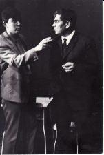 """Fridrichas Diurenmatas (Friedrich Dűrrenmatt) """"Frankas V """"(rež. J. Miltinis), 1969 m. Rudolfas Jansonas - Heinis Curmiulis, Kazimieras Vitkus - Poilis Noikomas. PAVB FKV-191/9-2"""