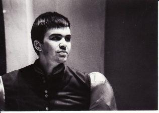 """Benas Džonsonas (Ben Jonson) """"Volponė"""" (rež. J. Miltinis), 1971 m. Rudolfas Jansonas - Tarnas. Fotogr. K. Vitkaus. PAVB FKV-75/7-1"""
