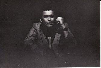 """Raimundas Samulevičius """"Laukimas"""" (rež. J. Miltinis), 1976 m. Rudolfas Jansonas - Skrajojantis Olandas. Fotogr. K. Vitkaus. PAVB FKV-222/3-1"""