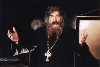 "Nikolajus Erdmanas (Николай Эрдман) ""Savižudis"" (rež. A. Pociūnas), 1998 m. Rudolfas Jansonas – Tėvas Jelpidijus"