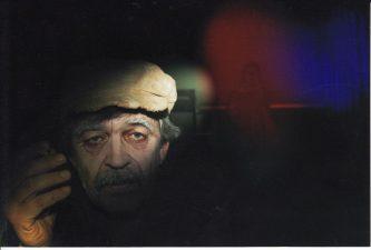 """Rimantas Šavelis """"Tamarikso žydėjimas"""" (rež. R. Rimeikis), 2006 m. Rudolfas Jansonas – Vyras su šakėmis. Fotogr. Ingridos Žilėnaitės"""