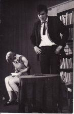 "Juozas Grušas ""Pražūtingas apsvaigimas"" (rež. V. Blėdis), 1967 m. Violeta Bendoraitytė - Zina, Rudolfas Jansonas - Julius. Fotogr. K. Vitkaus. PAVB FKV-187/2-1"