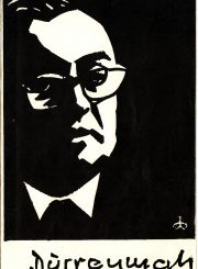 "Spektaklio ""Fizikai"" (rež. J. Miltinis) programa. 1967 m."