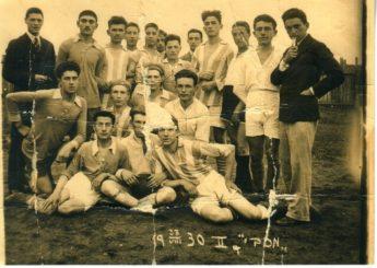 """1. """"Makabi"""" sporto klubo sportininkai. 1930 m. Nuotrauka iš Panevėžio kraštotyros muziejaus rinkinių"""