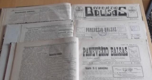 """Laikraščiai """"Panevėžio balsas"""""""