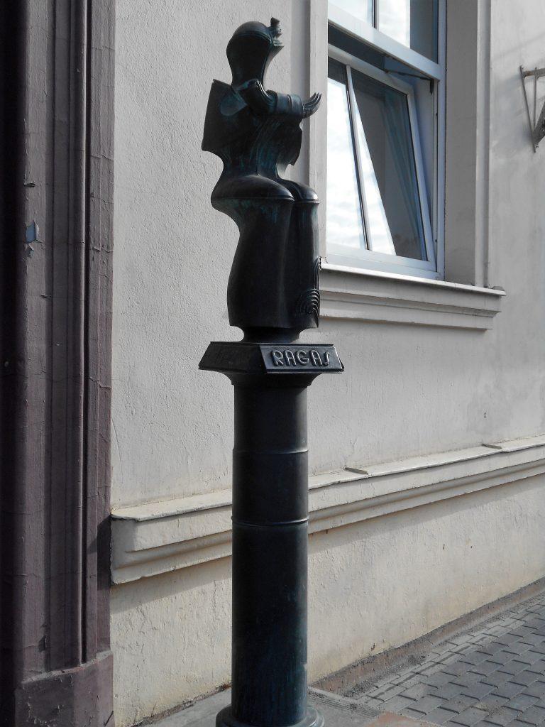 """Skulptūra """"Ragas"""". Astos Rimkūnienės nuotrauka"""