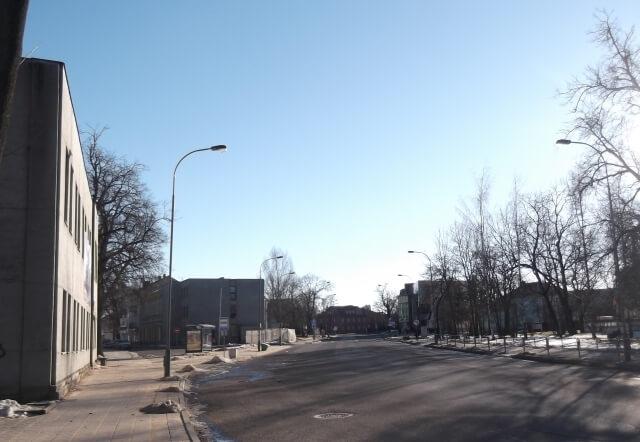 1. 1988 m. nesustabdyta Respublikos gatvės rekonstrukcija. L. Kaziukonio nuotrauka