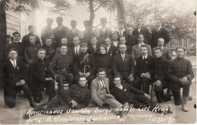 1. Krekenavos šauliai. 1927 m. Nuotrauka iš A. Petronio asmeninio archyvo