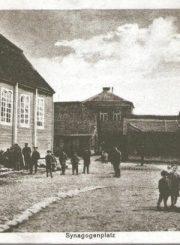 """2. Sinagogų aikštė, 1914–1917 m. Nuotrauka iš fotoalbumo """"Senasis Panevėžys: nuo pirmųjų fotografijų iki 1918 metų"""""""