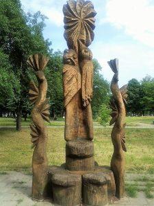 """Skulptūra """"Sostas miestelėnui"""". Astos Rimkūnienės nuotrauka"""