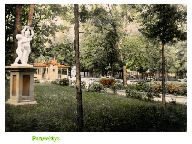 1. Panevėžio miesto sodas sovietmetyje. Nuotrauka iš A. Gedeikio kolekcijos
