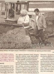 """2. """"Panevėžio balsas"""" apie legendinio akmens paieškas Senvagėje. 1998 m. gegužės 5 d."""