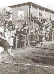"""2. Panevėžio stadionas pokaryje. Nuotrauka iš M. Marcinkevičiūtės knygos """"Panevėžio sportas"""""""