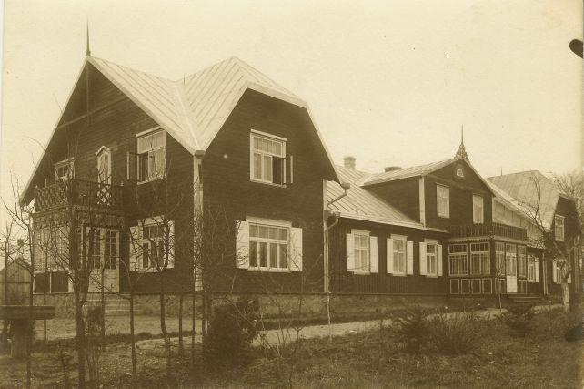 1. Panevėžio vyskupijos pastatas. XX a. 4 deš. Nuotrauka iš Panevėžio vyskupijos archyvo