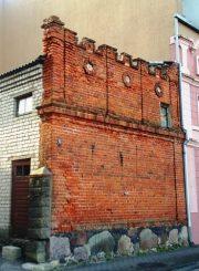 """3. Panevėžio Bataliono gatvėje išlikusi namo Nr. 5, kuriame veikė """"Vilnies"""" spaustuvė, siena"""