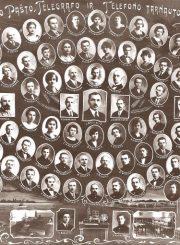 2. Panevėžio pašto, telefono ir telegrafo darbuotojų vinjetė. 1927 m. Nuotrauka iš Panevėžio kraštotyros muziejaus rinkinių