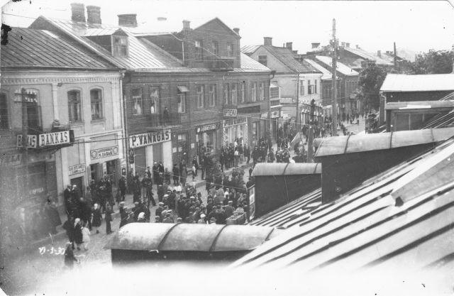 1. Prano Vanago parduotuvė Panevėžyje. 1930 m. Nuotrauka iš V. Vyšniausko kolekcijos