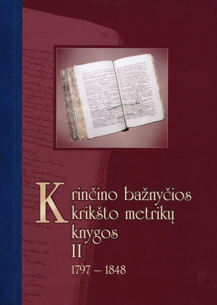 Krinčino bažnyčios krikšto metrikų knygos