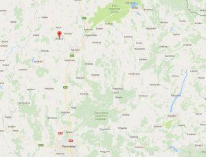 Gimtasis J. Vileišio Medinių kaimas žemėlapyje. Iš: https://www.google.lt/maps