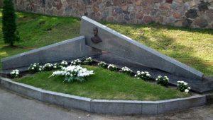 Paminklas A. Petruliui Pivašiūnuose. A. Purvinytės nuotrauka. Iš: http://www.alytus-tourism.lt/lt/lankytinos-vietos/skulpturos-ir-paminklai/paminklas-alfonsui-petruliui-pivasiunuose